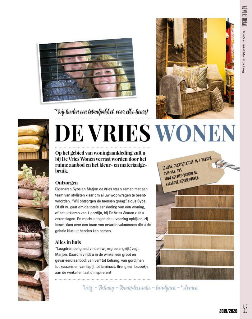 De Vries Wonen advertorial