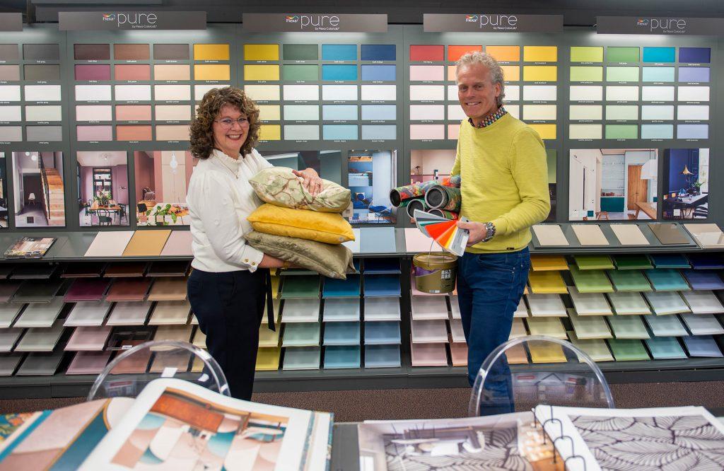 De Vries Wonen behang flexa kleuren